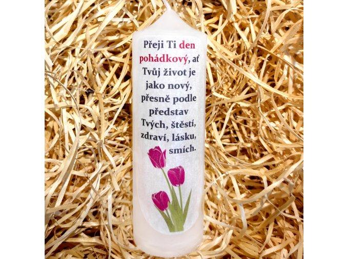 Dárková svíčka s narozeninovým potiskem - 17 x 6 cm 6