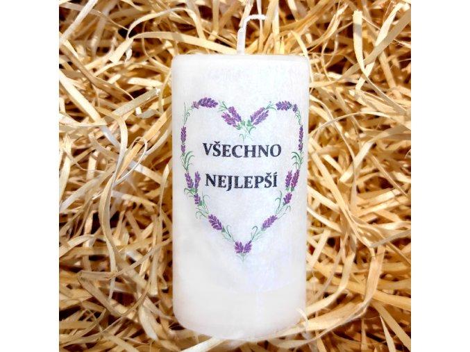 Narozeninová svíčka - 9,5 x 5 cm 5