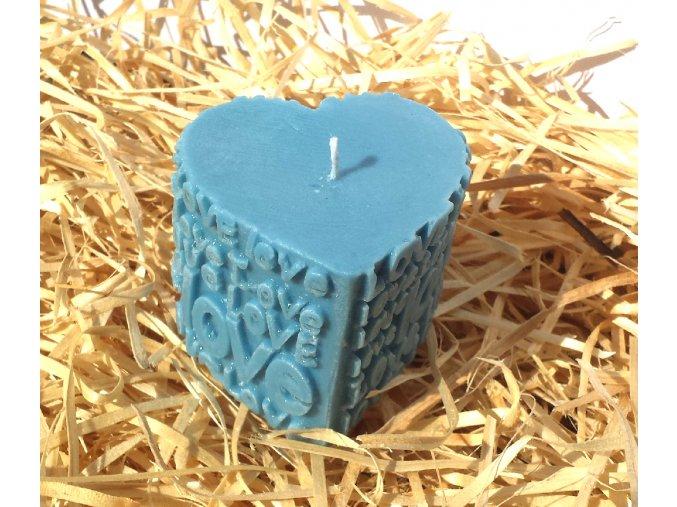 Svíčka LOVE - srdce