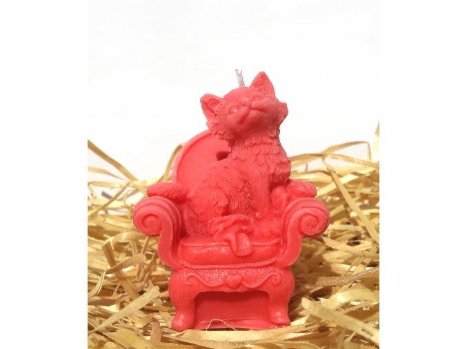 Svíčka - kočka na křesle