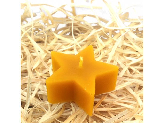 Svíčka ze včelího vosku - hvězda