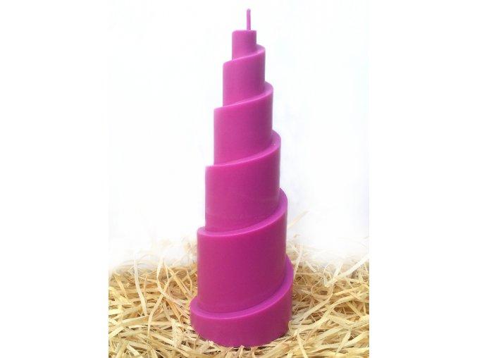 Svíčka - spirála - violet