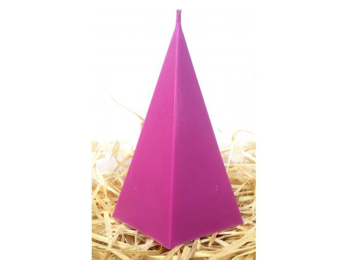 Svíčka geometrická - pětiboký jehlan