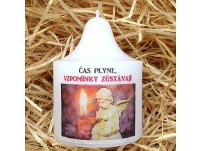 Svíčka na památku zesnulým - 10 x 8 cm