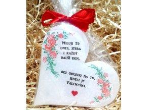 Dárková svíčka k vyznání lásky - srdce 11 cm 4