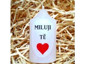 Dárková svíčka s vyznáním lásky - 8,2 x 4,4 cm 1