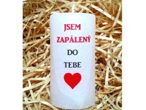 Dárková svíčka s vyznáním lásky - 9,5 x 5 cm 3
