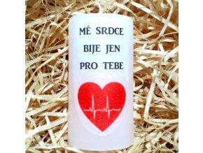 Dárková svíčka s vyznáním lásky - 9,5 x 5 cm 4