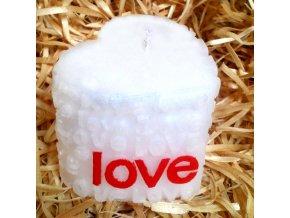 Malovaná svíčka LOVE - srdce