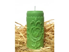 Svíčka s růží - válec