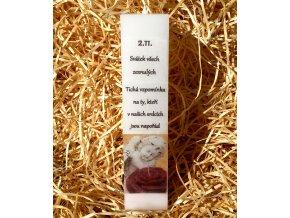 Svíčka kvádr na Dušičky - pietní - 21 x 5 cm