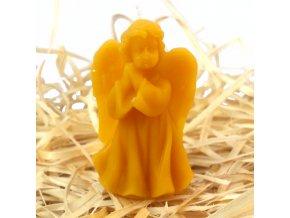 Svíčka ze včelího vosku - malý andělíček