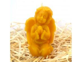 Svíčka ze včelího vosku - modlící se andílek
