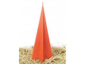Svíčka - hvězdicovy jehlan sytě oranžový