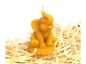 Svíčka ze včelího vosku - malý slon