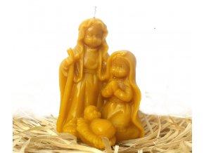 Svíčka ze včelího vosku - 3D betlém