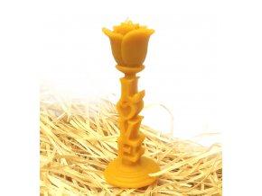 Svíčka ze včelího vosku - růže LOVE
