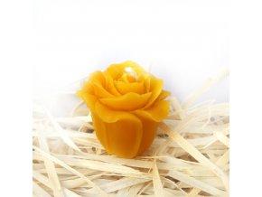 Svíčka ze včelího vosku - malá růžička