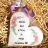 Dárková svíčka pro maminku - srdce 11 cm