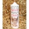 Svíčka na památku zesnulým - 17 x 6 cm