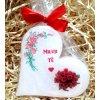 Dárková svíčka k vyznání lásky - srdce 11 cm 5