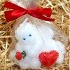 Svíčka - zamilovaný malovaný andílek 7 cm