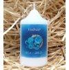 Svíčka se znamením zvěrokruhu - vodnář - 8,2 x 4,9 cm - modrá