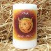 Svíčka se znamením zvěrokruhu - býk - 11,5 x 7 cm - oranžový