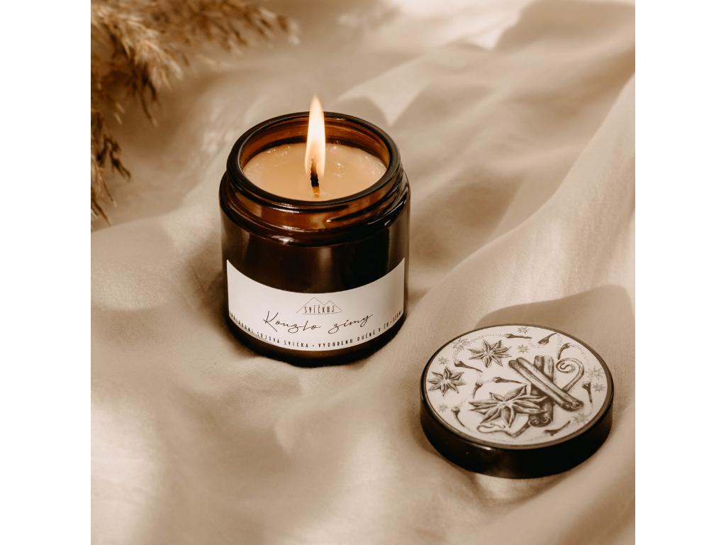 kouzlo zimy sojová svíčka