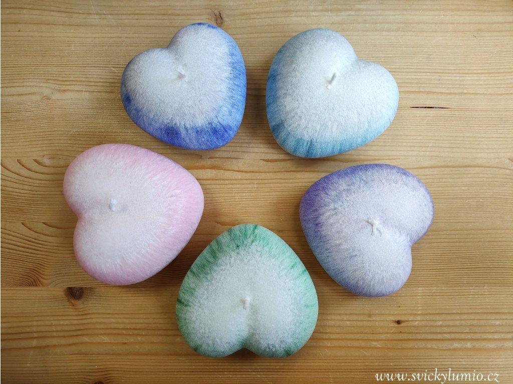 Srdce bílo-fialové