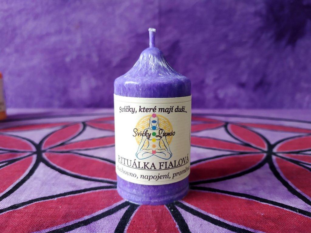 ritualní svíce fialová 11