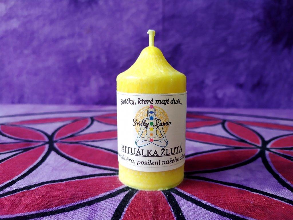 ritualni svice žluta 11
