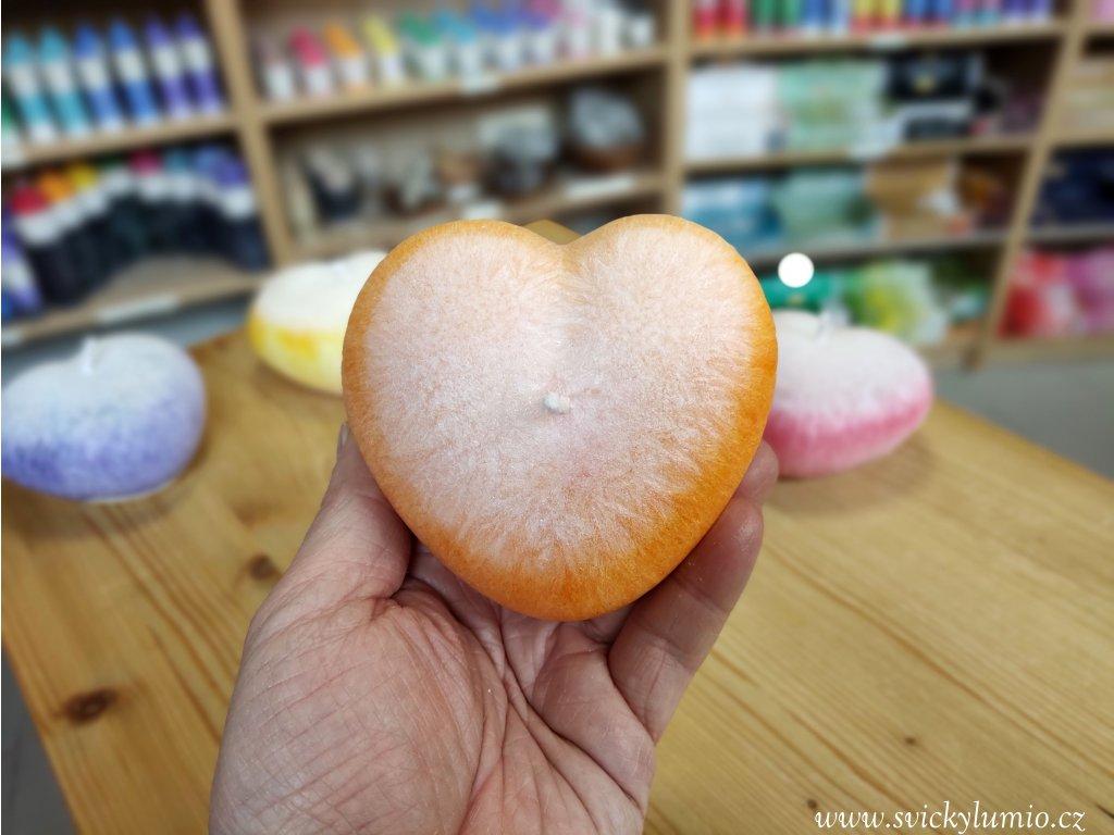 Srdce bílo-oranžové