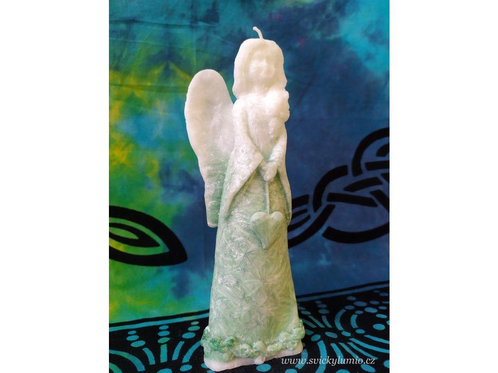 Andělka Natálka 20 cm zelená