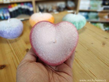 Srdce bílo-červené