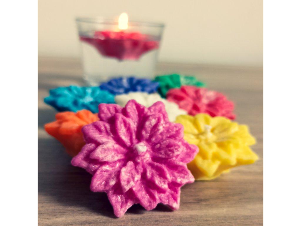 plovoucí svíčky květ