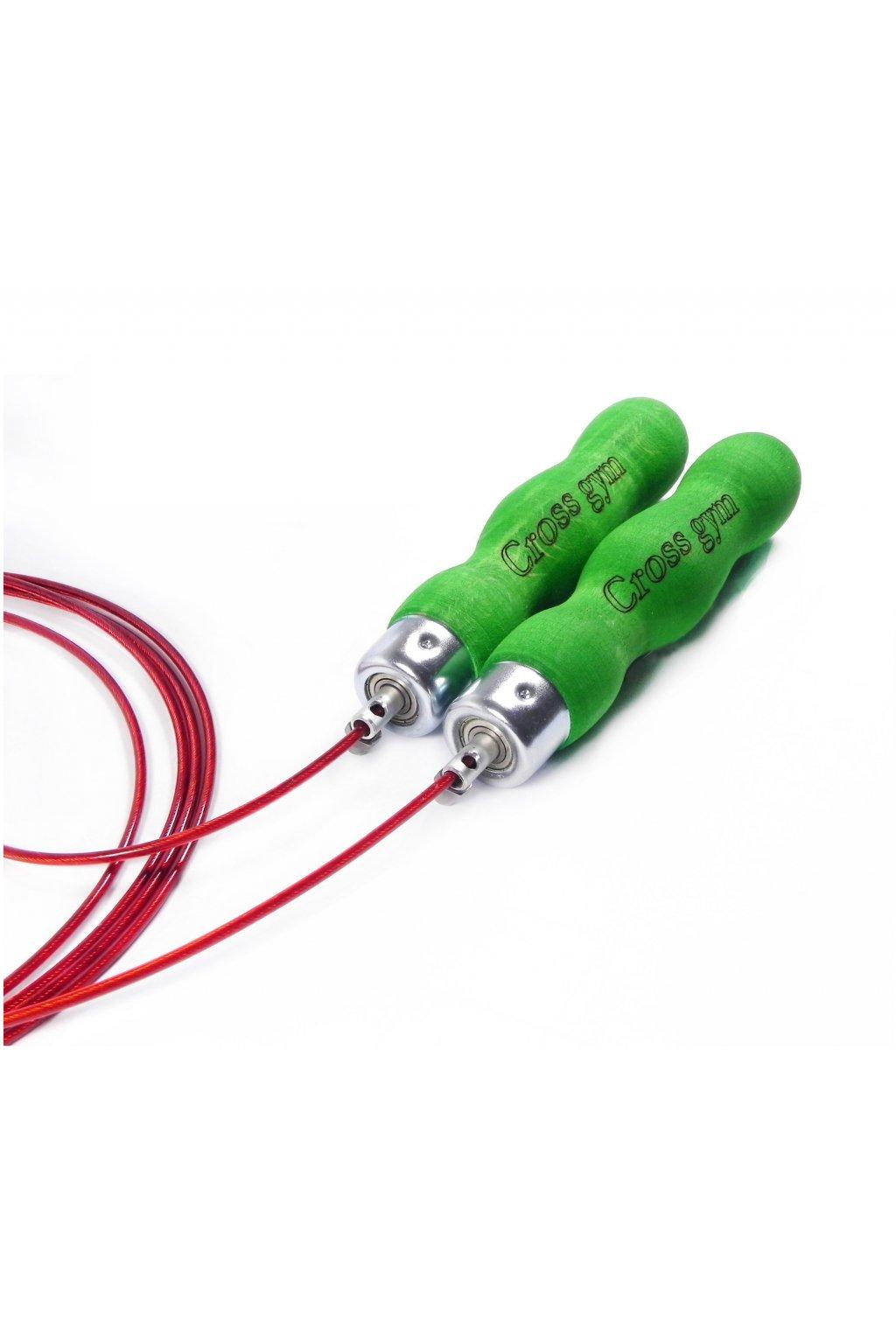 Zelená rukoväť, červené lanko