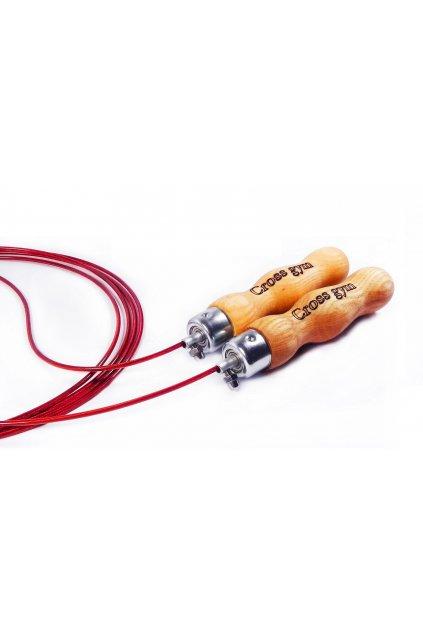Drevená rukoväť, červené lanko