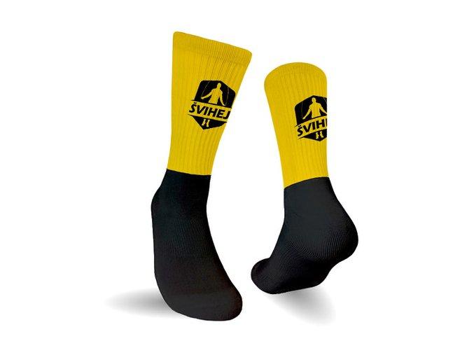 Ponožky černo žluté