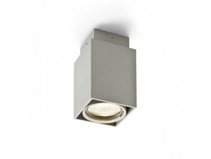 EX GU10 hranatá stropní stříbrnošedá 230V GU10 50W