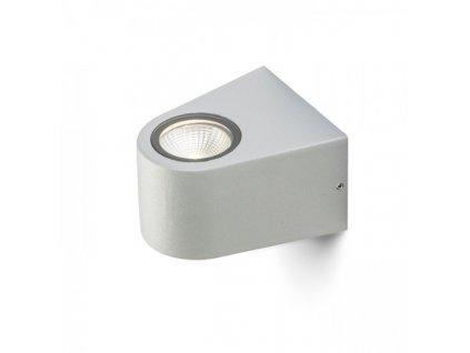 SIX nástěnná stříbrnošedá 230V/700mA LED 3W 60° IP54 3000K