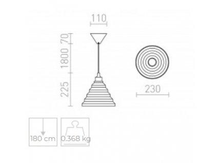 AMICI závěsná silikonová lampa černá 230V E27 42W