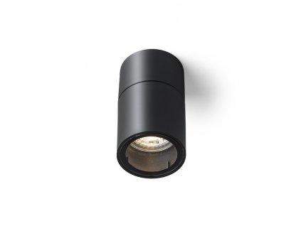 SORANO stropní černá plast 230V LED GU10 8W IP44
