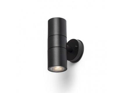 SORANO II nástěnná černá plast 230V LED GU10 2x8W IP44