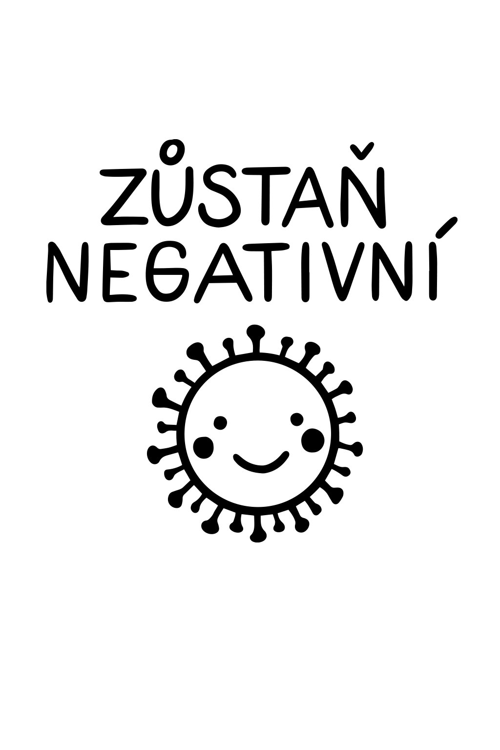 Svlíkárna Zůstaň Negativní tričko dámské - předek - svlikarna.cz