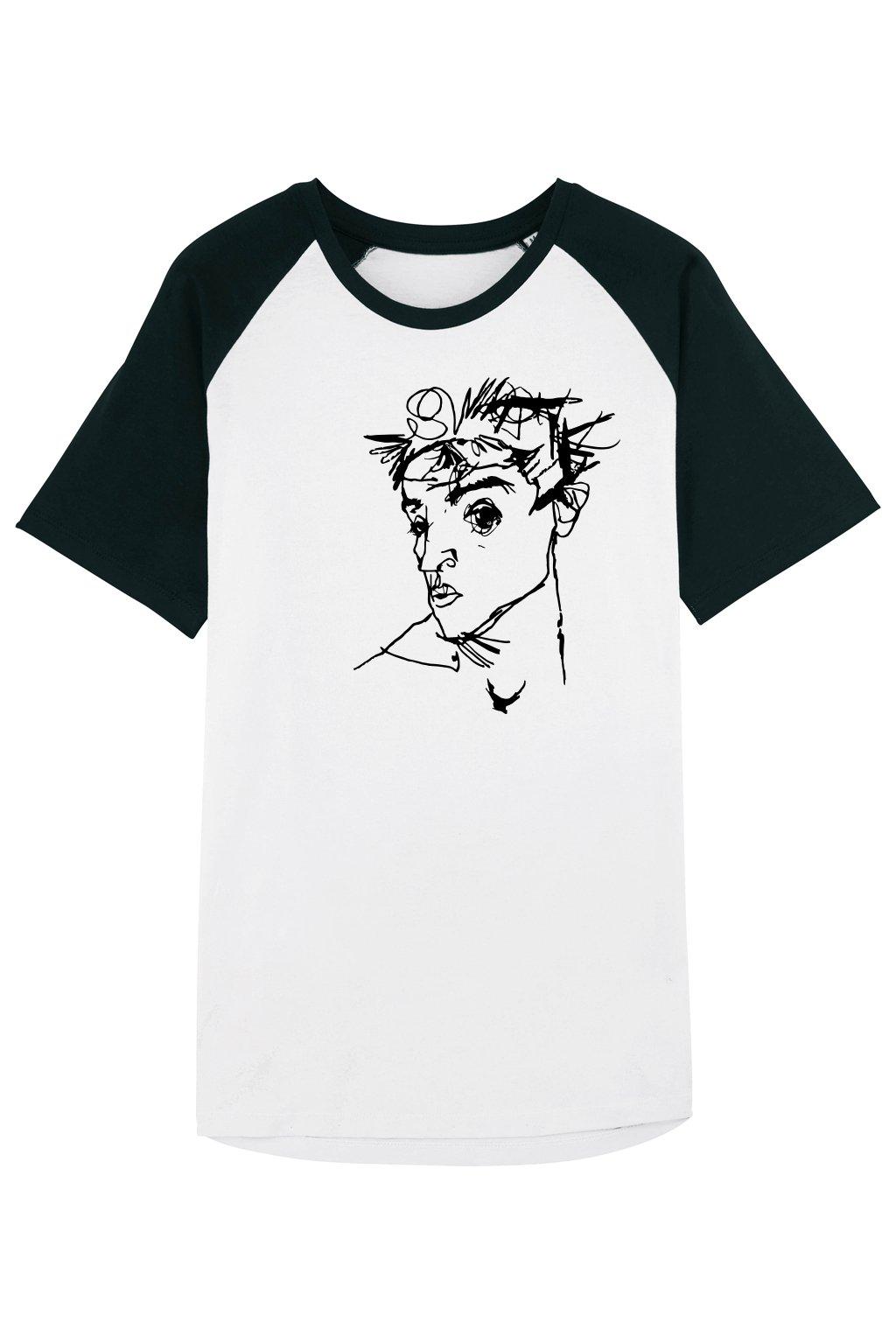 Svlíkárna Egon Schiele Self-Portrait tričko unisex - předek - svlikarna.cz