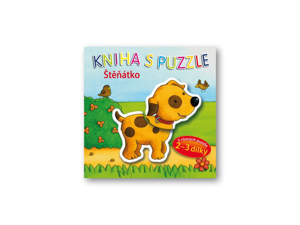 Kniha s puzzle - Štěňátko