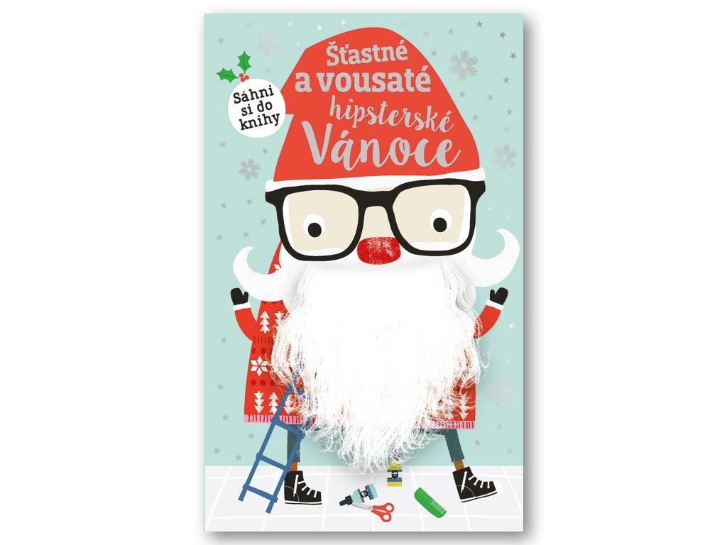 Šťastné a vousaté hipsterské Vánoce