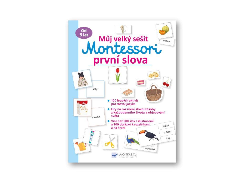 Můj velký sešit Montessori první slova