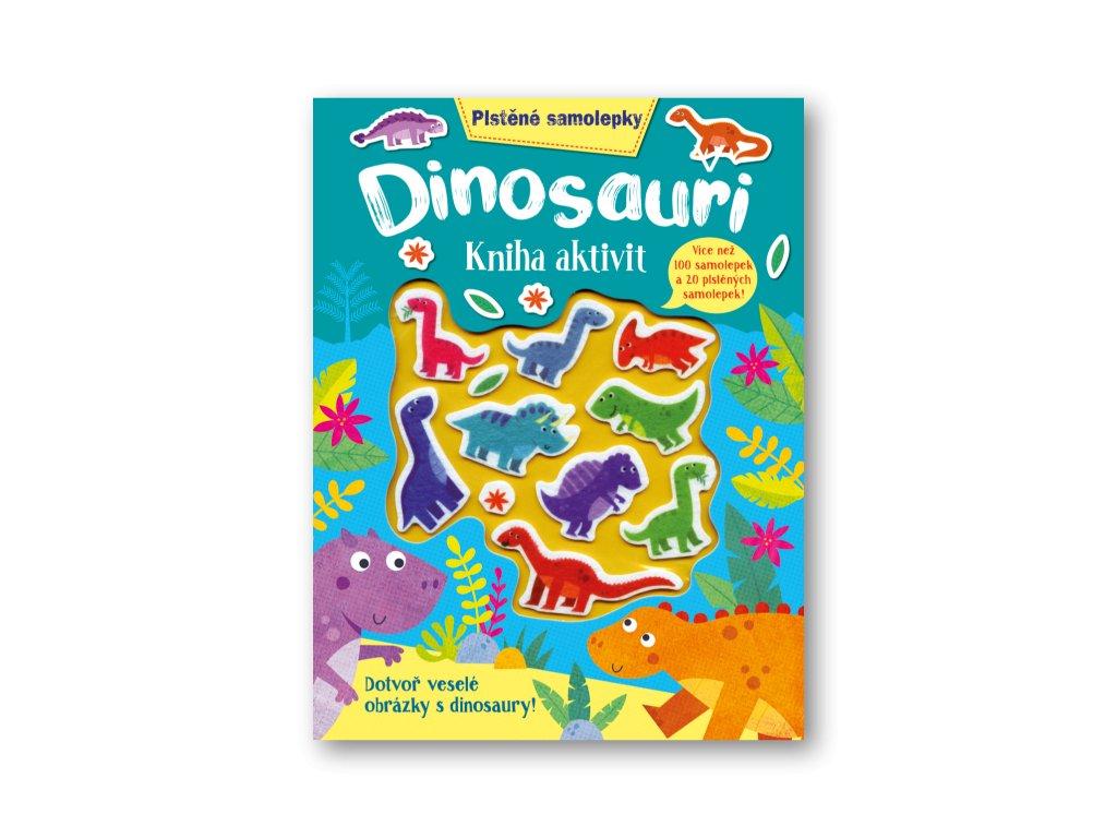 Plstěné samolepky - Dinosauři - kniha aktivit